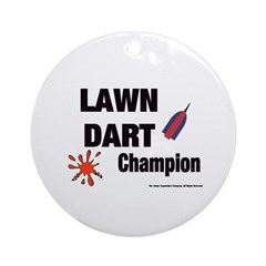 Lawn Dart Champion Ornament (Round)
