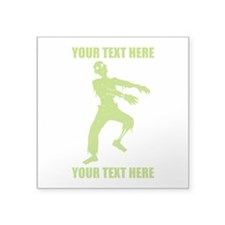 "Personalized Zombie Square Sticker 3"" x 3"""