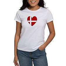Danish Flag Heart Tee