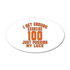 100 Birthday Designs 35x21 Oval Wall Decal
