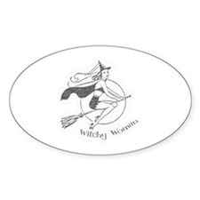 Vintage Witchy Woman Oval Decal