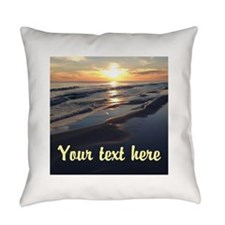 Custom Photo And Text Everyday Pillow