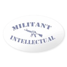 Militant Intellectual Oval Decal