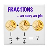 Fractions Question Tile Coaster