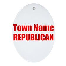 Republican Ornament (Oval)