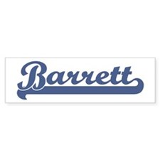 Barrett (sport-blue) Bumper Bumper Sticker
