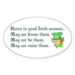 Irish Women Oval Sticker