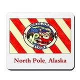 North Pole AK Flag Mousepad