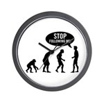 Evolution is following me Wall Clock
