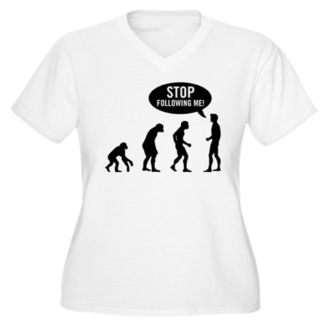 Evolution is following me Womens Plus Size V-Neck