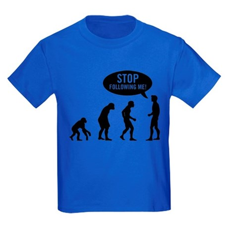 Evolution is following me Kids T-Shirt