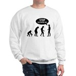 Evolution is following me Sweatshirt - Availble Sizes:Small,Medium,Large,X-Large,2X-Large (+$3.00) - Availble Colors: White,Ash Grey