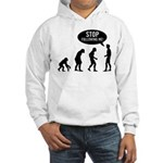 Evolution is following me Hooded Sweatshirt - Availble Sizes:Small,Medium,Large,X-Large,2X-Large (+$3.00) - Availble Colors: White,Heather Grey