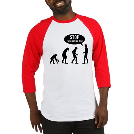 Evolution is following me Baseball Jersey