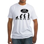 Evolution is following me Fitted T-Shirt - Availble Sizes:Small,Medium,Large,X-Large,2X-Large (+$3.00) - Availble Colors: White,Natural,Pink,Baby Blue,Fuchsia,Sunshine