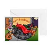Halloweenie (Dapple) Greeting Card