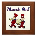 March On Framed Tile