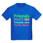 Anti-Comic Sans Font Kids Dark T-Shirt