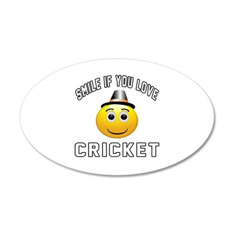 Cricket Cool Designs 35x21 Oval Wall Decal