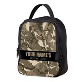 Personalized camo Lunch Bags