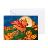 Lil Devil Doxie Greeting Card