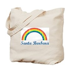 Santa Barbara (vintage rainbo Tote Bag