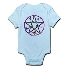Wiccan Star and Butterflies Infant Bodysuit