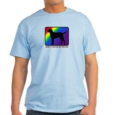 Curly Coated Retriever (rainb T-Shirt