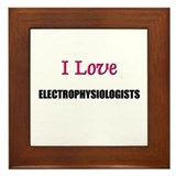 I Love ELECTROPHYSIOLOGISTS Framed Tile