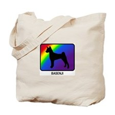 Basenji (rainbow) Tote Bag
