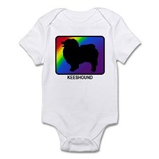 Keeshound (rainbow) Infant Bodysuit