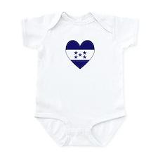 Honduran Flag Heart Infant Creeper