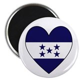 Honduran Flag Heart 2.25&quot; Magnet (100 pack)