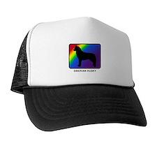 Siberian Husky (rainbow) Trucker Hat