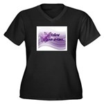 Follow Your Dreams Women's Plus Size V-Neck Dark T