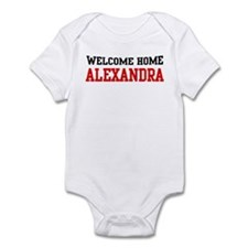 Welcome home ALEXANDRA Infant Bodysuit