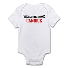Welcome home CANDICE Infant Bodysuit