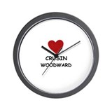 LOVE CRUSIN WOODWARD Wall Clock