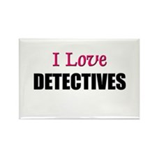 I Love DETECTIVES Rectangle Magnet (10 pack)