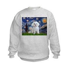 Starry Night / Maltese Kids Sweatshirt