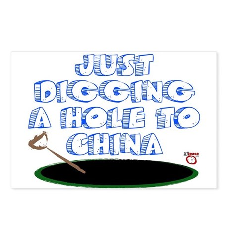 Digging a Hole to China Postcards (Package of 8)