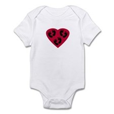 Triplet Baby Footprints Heart Infant Bodysuit