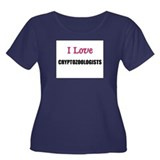 I Love CRYPTOZOOLOGISTS Women's Plus Size Scoop Ne