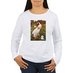 Windflowers / Maltese Women's Long Sleeve T-Shirt