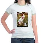 Windflowers / Maltese Jr. Ringer T-Shirt
