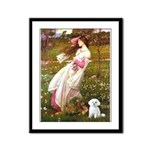 Windflowers / Maltese Framed Panel Print