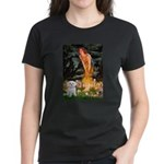 Fairies & Maltese Women's Dark T-Shirt