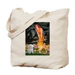 Fairies & Maltese Tote Bag