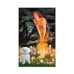 Fairies & Maltese Sticker (Rectangle)