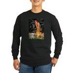 Fairies & Maltese Long Sleeve Dark T-Shirt
